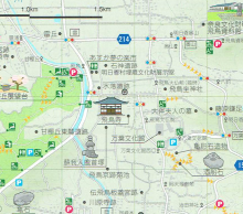 飛鳥観光マップ拡大