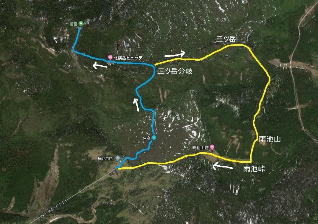 201812_北横岳・三ツ岳・雨池山 地図