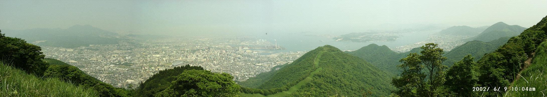 足立山から望む北九州市街