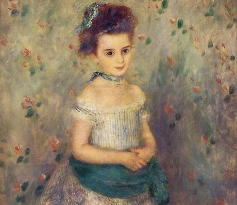 「ジャンヌ・デュラン=リュエル嬢」1876年ピエール=オーギュスト・ルノワール