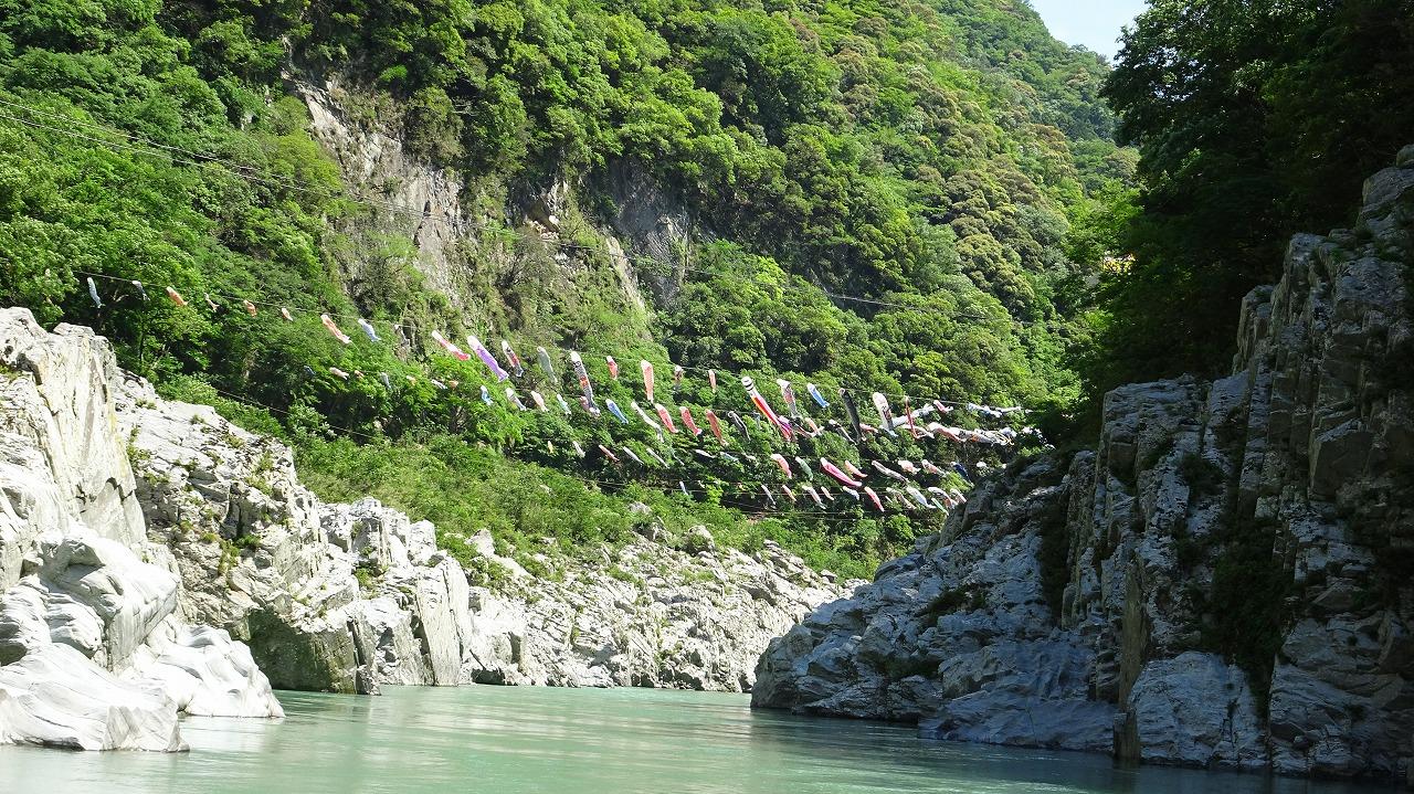 豊稔池堰堤と大歩危峡 (2019年5月)