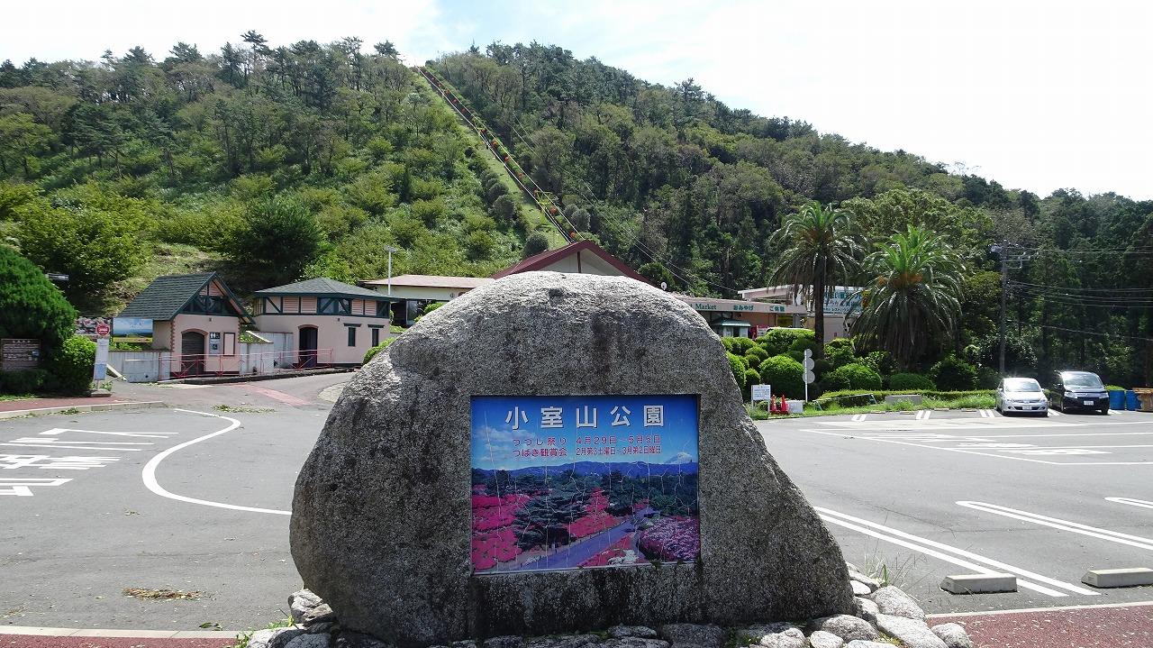 台風一過の小室山 (2019年9月)