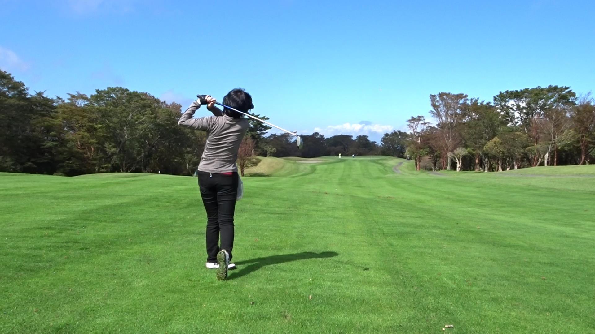 グリーンにやられた天城高原ゴルフコース (2018年10月)
