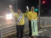 190403石田駅夜立ち