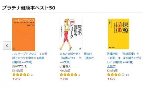 Kindleストアのキャンペーン「プラチナ健康本ベスト50」