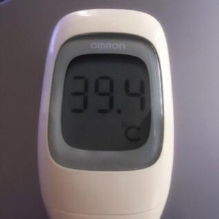 今日の高熱は39.4℃