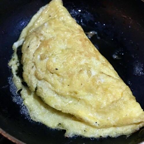 海苔の佃煮オムレツ