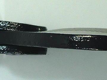 キーホルダー(ランドセル リメイク)~側面コバ仕上げアップ