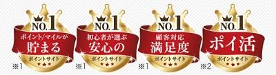 モッピー 4冠